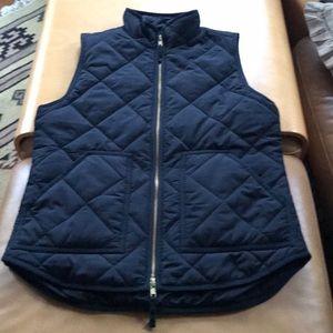 J crew quilted black vest